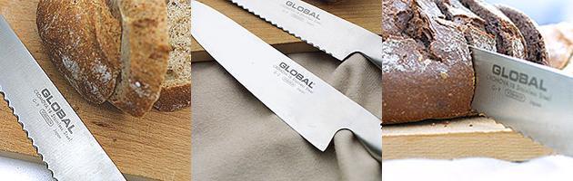 GLOBAL (グローバル)パン切りナイフ 使用イメージ