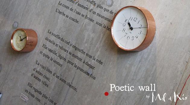 ウォールステッカー Poetic wall (ポエティック・ウォール) 看板