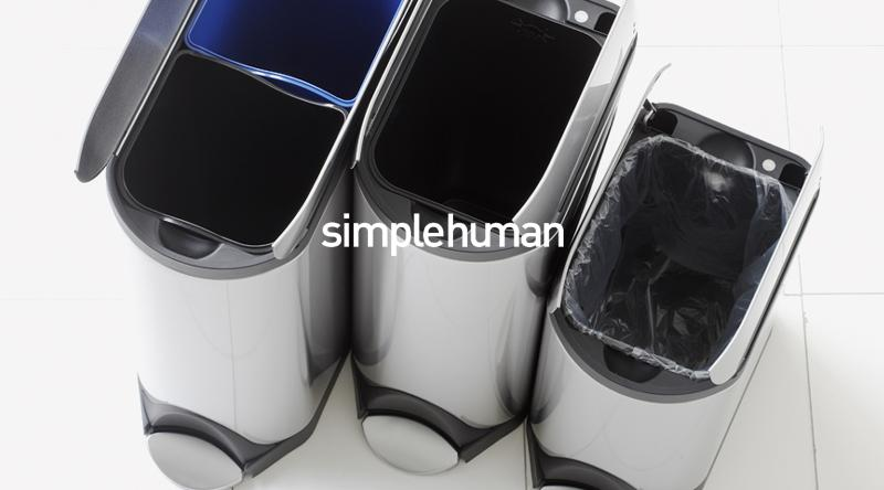 simplehuman (シンプルヒューマン) ダストボックス 看板