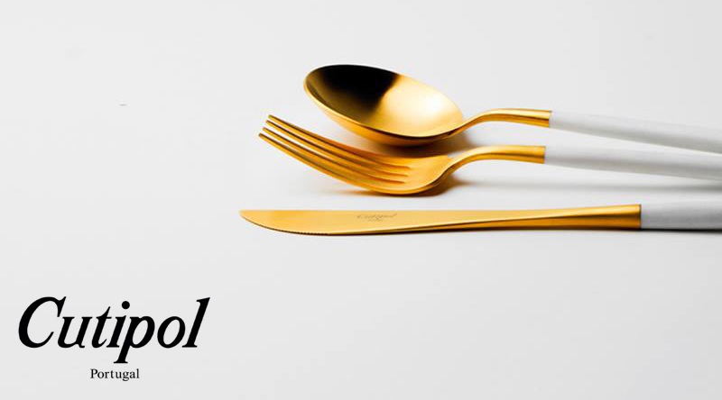 Cutipol(クチポール キュティポル) / GOA ホワイトマットゴールド 看板