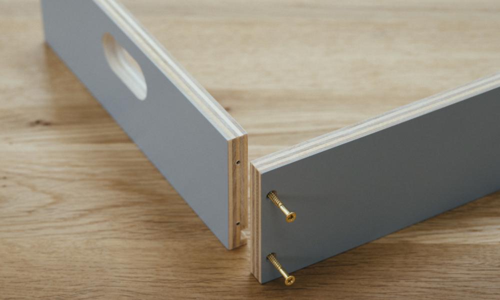 前板と側板接続