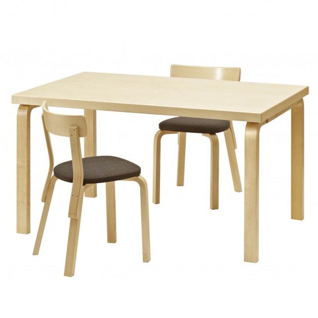 Artek アルテック テーブル82B バーチ(アルヴァ アアルト)