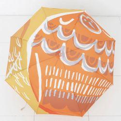 【アウトレット】長傘 / フクロウ オレンジ