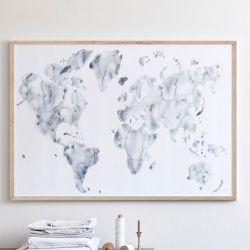 アートポスター + フレーム付き  / Blue world 100×70cm