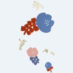 花とハチドリ