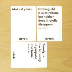 【アウトレット】 引用文付きカード 3枚セット (Artek / アルテック)
