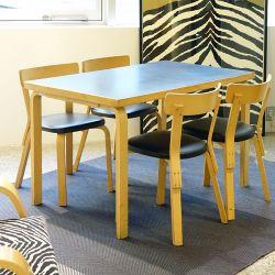 【アウトレット・展示品】2nd cycle テーブル81B 120×75 / ブラックリノリウム