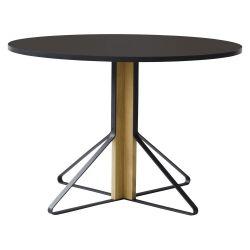 カアリテーブル REB004 / ブラック φ110×H74cm