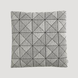 タイルクッション 50×50cm ブラック×ホワイト /  Tile Cushion