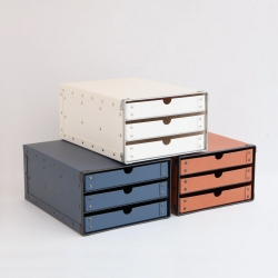 3段ボックス (ファイバーケース)