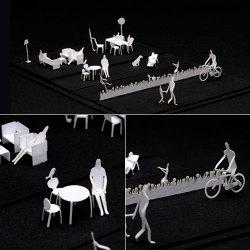 【アウトレット】 1/100 建築模型用添景セット (住宅編)