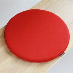 【アウトレット】デザインチェアクッション ラウンド35cm / オレンジ×レッド