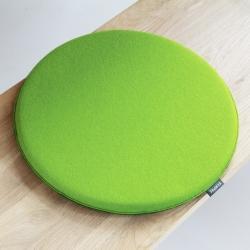 デザインチェアクッション ラウンド35cm / メイグリーン×オリーブ