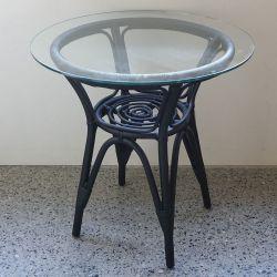 【アウトレット・展示品】 ラタン サイドテーブル ブラック