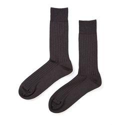 メンズリブ靴下L / チャコール WSK-32-15