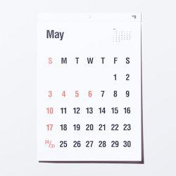 カレンダー 2020 / TYPEFACE Helvetica 壁掛けカレンダー