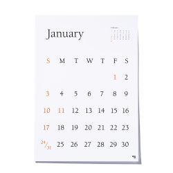 【数量限定】カレンダー 2021 / TYPEFACE Berkey ポスターカレンダー