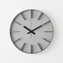 ウォールクロックL / シルバー AZUMI edge clock