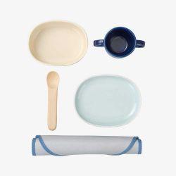 ベビー食器セット / ウッドバイオレット