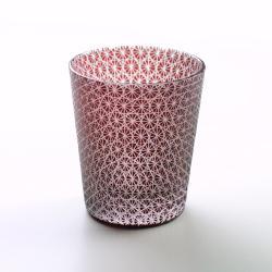 赤被菊繋 切り子グラス