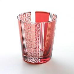 赤帯菊繋 切り子グラス