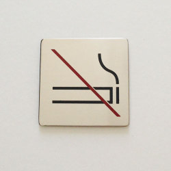 【アウトレット】 サインシール ピクトグラム / No smoking
