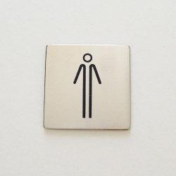 【アウトレット】 サインシール ピクトグラム / トイレ man