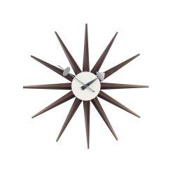 サンバーストクロック ウォールナット / Sunburst Clock