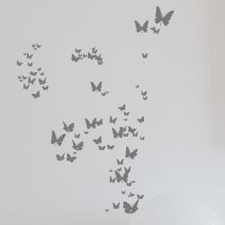 【アウトレット】ウォールシール ・ 沢山のちょうちょ (Poetic wall)