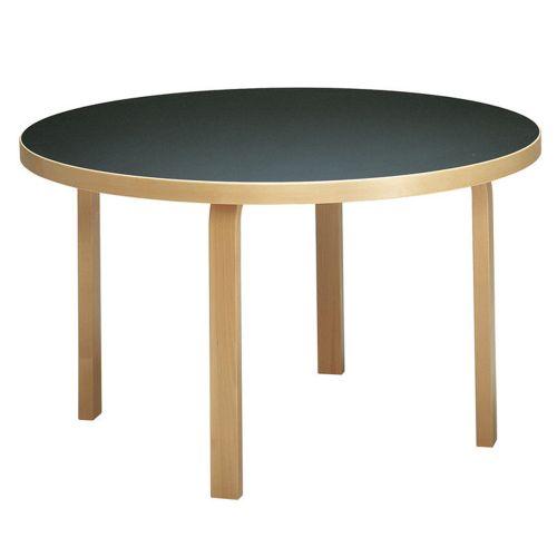 テーブル91 / ブラックリノリウム φ125×72cm (Artek / アルテック)