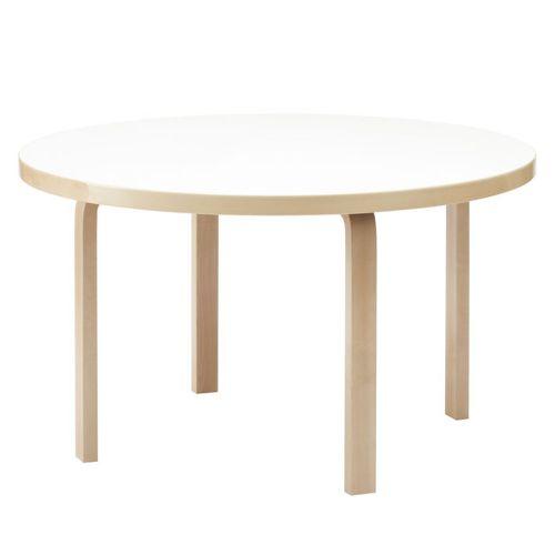 テーブル91 / ホワイトラミネート φ125×72cm (Artek / アルテック)