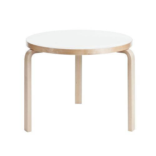 ローテーブル90B / ホワイトラミネート φ75×H52cm (Artek / アルテック)