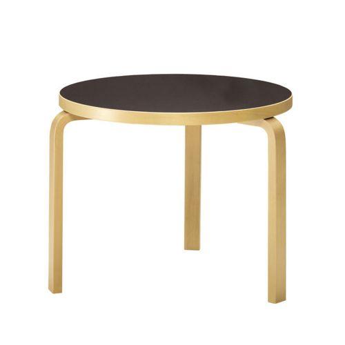 ローテーブル90B / ブラックリノリウム φ75×H52cm (Artek / アルテック)