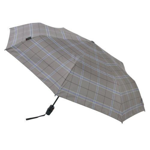 【在庫限り】クニルプス T.220 折畳み傘 / Rain or Shine Check gray  (Knirps KNTL220-5991)