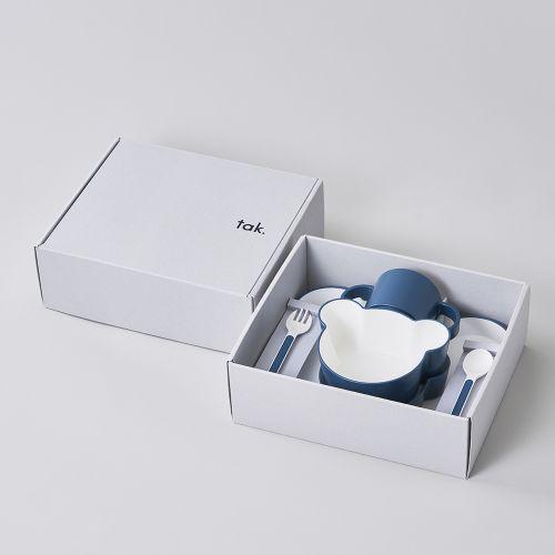 ギフトボックス ベア カトラリー ネイビー / Gift box bear cutlery (tak / タック)