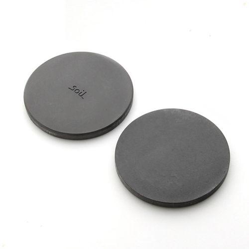 soil ソイル ラージコースター 2枚セット / ブラック