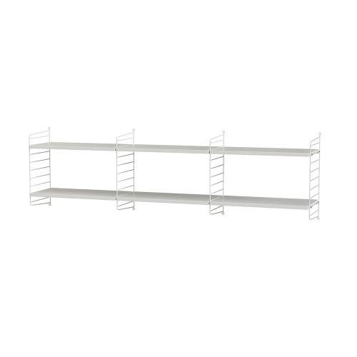 シェルフ+フロアパネル W180×D30×H50cm / MDF (String Bundles Living / ..by String Furniture)