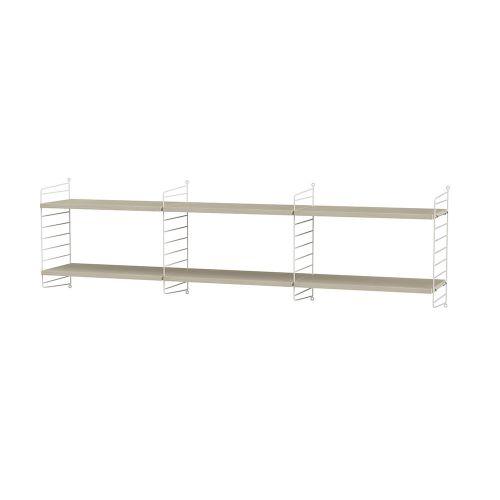 シェルフ+フロアパネル W180×D30×H50cm / ウッド (String Bundles Living / ..by String Furniture)