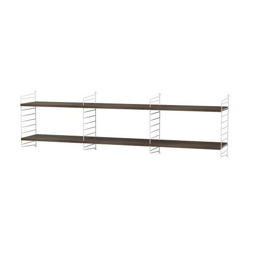 シェルフ+フロアパネル W180×D30×H50cm / ウォルナット (String Bundles Living / ..by String Furniture)