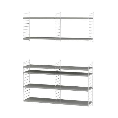 シェルフ+フロアパネル W120×D30×H50・H75cm / MDF (String Bundles Living / ..by String Furniture)
