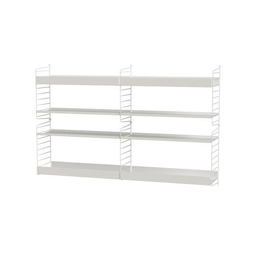 メタルシェルフ+ウォールパネル W160×D30×H100cm (String Bundles Living / ..by String Furniture)