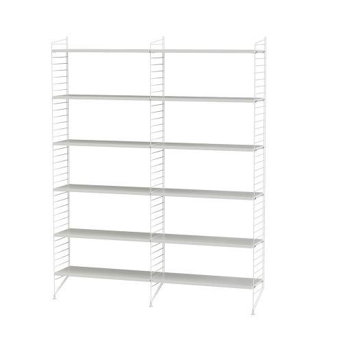 シェルフ+フロアパネル W120×D30×H200cm / MDF (String Bundles Living / ..by String Furniture)