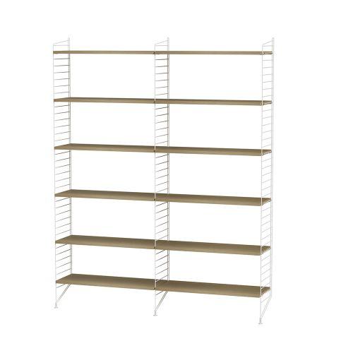 シェルフ+フロアパネル W120×D30×H200cm / ウッド (String Bundles Living / ..by String Furniture)
