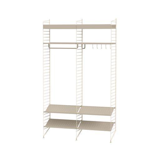 メタルシェルフ+シューズラック W120×D30×H200cm (String Bundles Hallway / ..by String Furniture)
