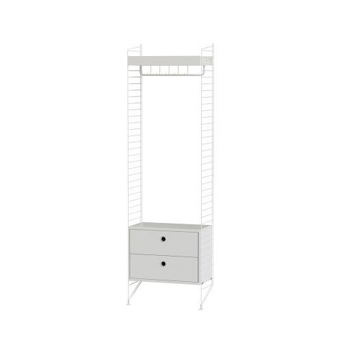 メタルシェルフ+チェスト W60×D30×H200cm (String Bundles Hallway / ..by String Furniture)