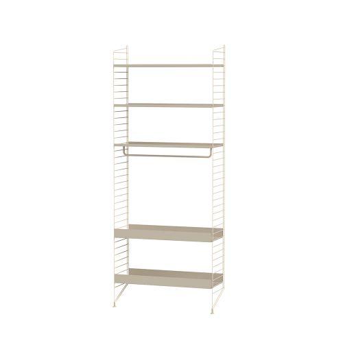 メタルシェルフ+フロアパネル W80×D30×H200cm (String Bundles Kitchen / ..by String Furniture)