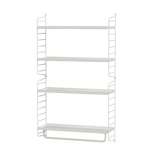 メタルシェルフ+ウォールパネル W60×D20×H100cm (String Bundles Kitchen / ..by String Furniture)