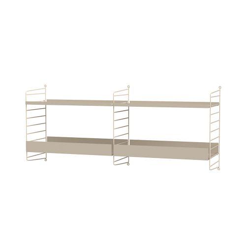 メタルシェルフ+ウォールパネル W120×D30×H50cm (String Bundles Kitchen / ..by String Furniture)