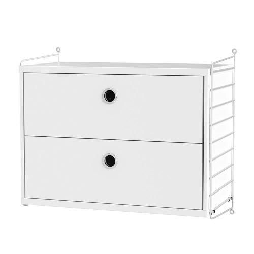 チェスト+ウォールパネル W60×D30×H50cm / MDF (String Bundles bed room / ..by String Furniture)