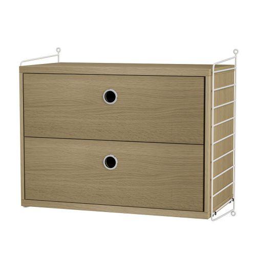 チェスト+ウォールパネル W60×D30×H50cm / ウッド (String Bundles bed room / ..by String Furniture)